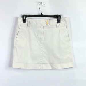 J Crew Mini Skirt chino Khaki Size 8 light beige